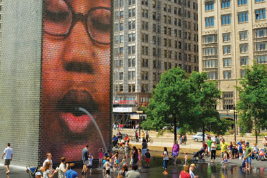 Millennium Park-Chicago-Crown Fountain