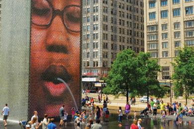 Millennium Park-Chicago-Crown Fountain