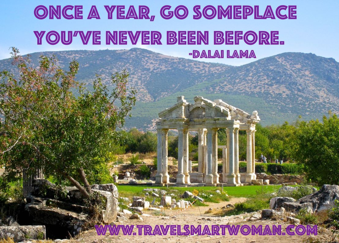 Quote: Go someplace new