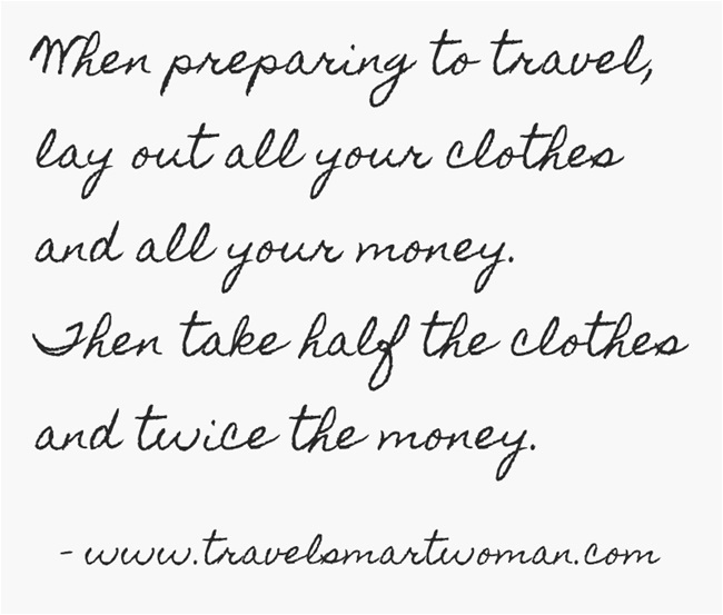 Quote: Packing Advice