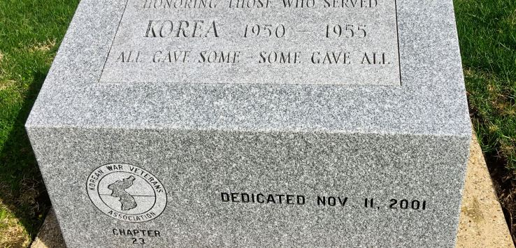 National Cemetery-Korean War memorial stone