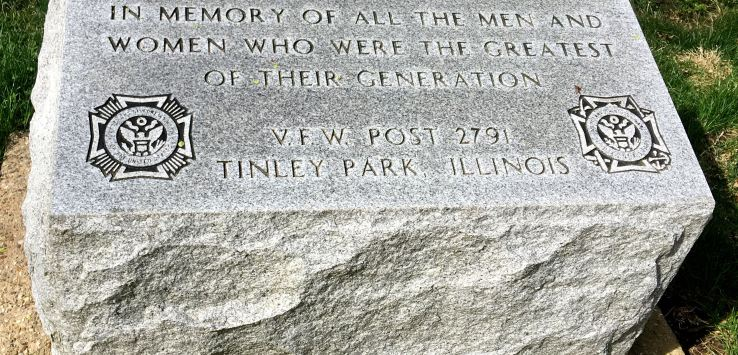 National Cemetery: Greatest Generation commemorative stone