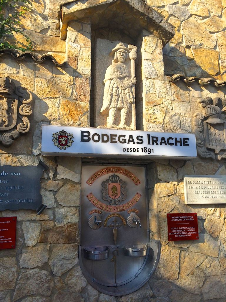 """""""Camino de Santiago: How I Started""""...Part of the fun is researching the sites along the way, then actually finding them! Stop for a free cup of wine at this winery fountain! (Photo by Suzanne Ball. All rights reserved.)"""