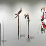 Milwaukee Art Museum: A collection of walking sticks from the Folk and Self-Taught gallery. (Photo credit: Suzanne Ball. All rights reserved.)