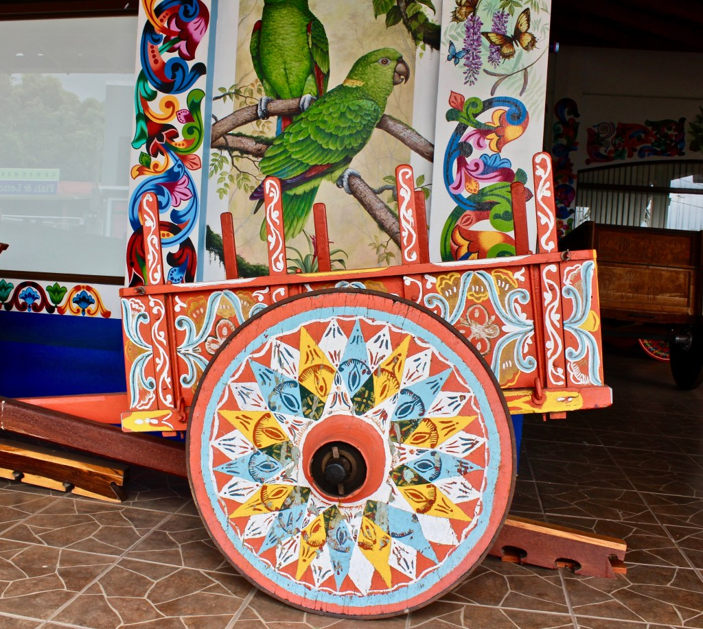 Costa Rica is famous for its colorful oxcarts. They aren't just pretty, they're useful, even in the 21st century.
