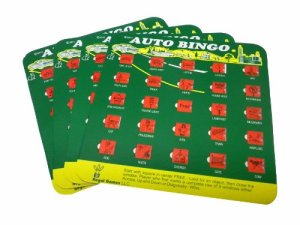 """Gifts for road trips: """"Backseat Bingo"""" is a classic! No batteries required, and it encourages everyone to look out the window. That's the idea of a road trip, right?"""