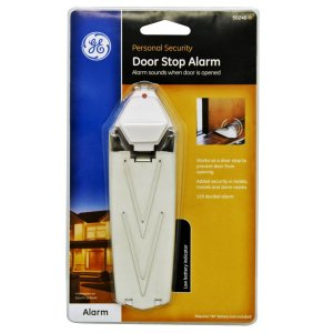Gifts for solo travelers: Keep them safe with a lightweight door stop. An alarm that be turned on or off is a bonus.