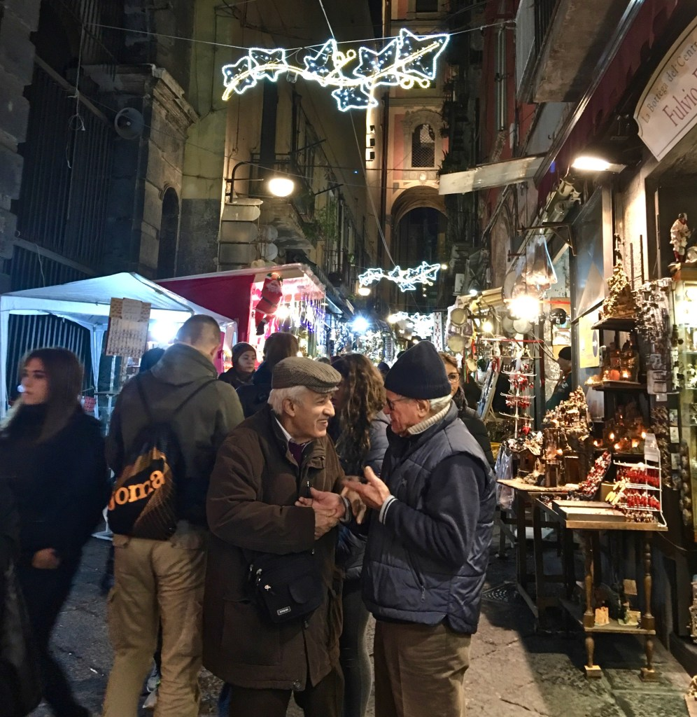 TravelSmart Woman Award: Naples, Italy, has an entire area devoted to the tradition of presepi, the creation of personalized manger scenes. Families shop and carefully choose additions for the scenes, which can take up an entire room! (Photo by Suzanne Ball. All rights reserved.)