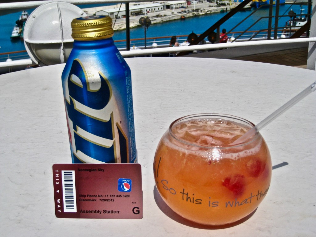 Disadvantages of cruises: As I've recommended, go with the drink package of your choice. Pay upfront and then relax...one less expense to worry about. Cheers!