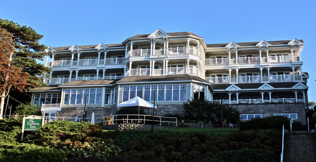 I stayed at Geneva Inn, a lovely waterfront property with private balconies and a restaurant overlooking the lake.