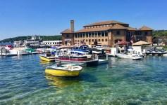 Lake Geneva is a resort town on the Illinois-Wisonsin border.