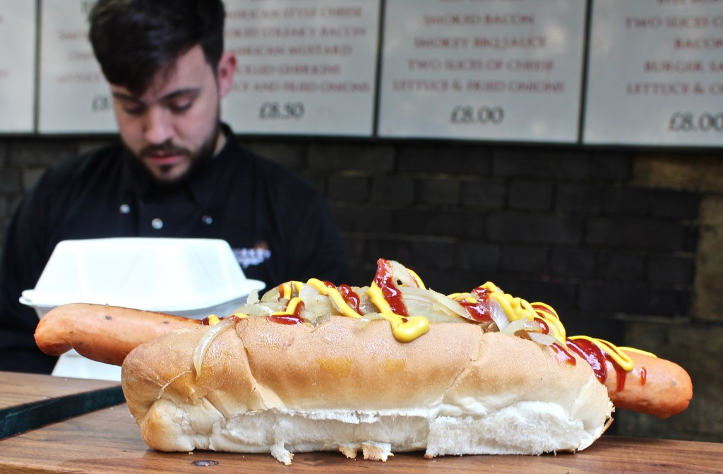 Hot dog, Borough market, London