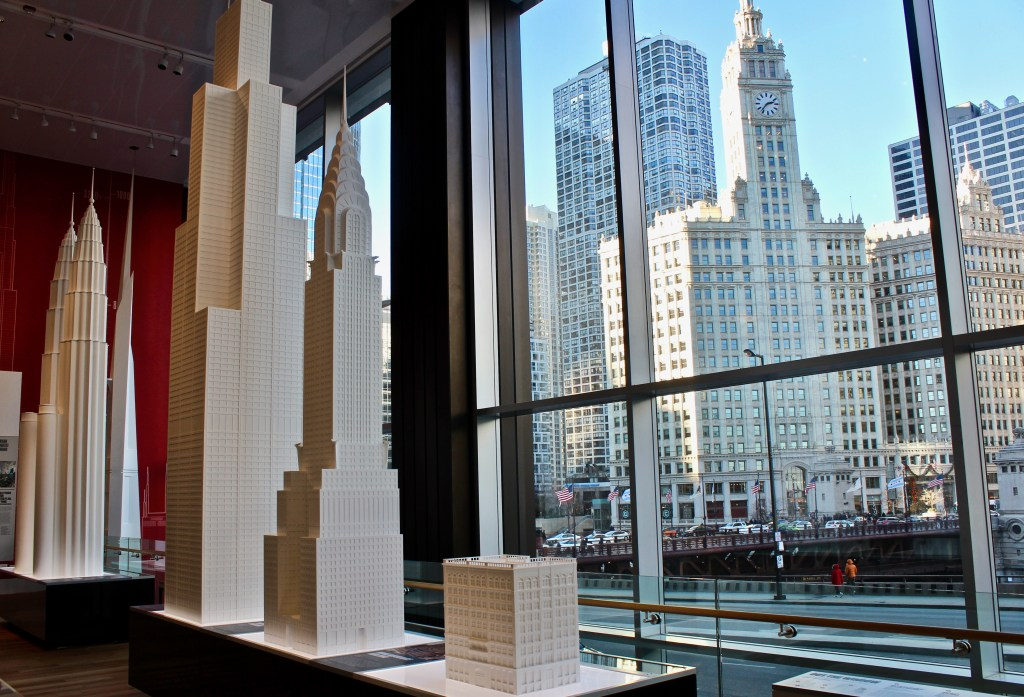Chicago Architecture Center: The Tall Buildings exhibit looks out onto some other great buildings.