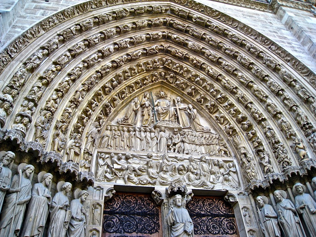 The exterior of Notre Dame Cathedral is as fascinating as the interior. Thankfully, it seems to have survived the fire.