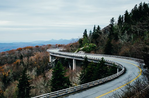 Curve on a beautiful road...your solo road trip!