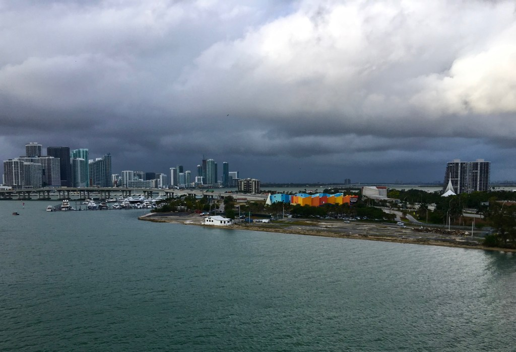 It's not a promising sign when storm clouds accompany your cruise ship...