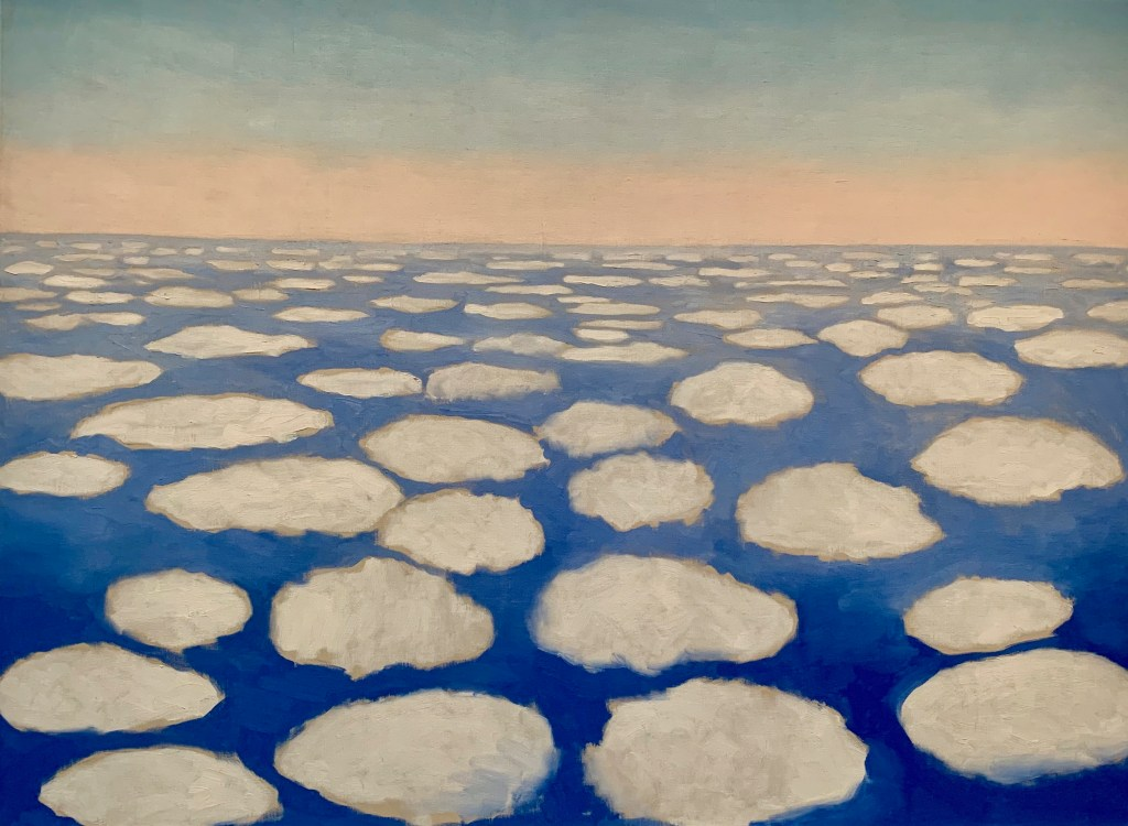 """Georgia O'Keeffe Museum displays the small version of her famous """"Sky Above Clouds."""""""