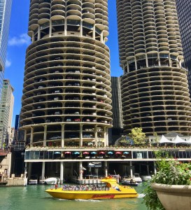 5 Chicago Buildings You Should Know: Marina City set the standard for the mixed-use urban setting. Yes, it does have a marina!