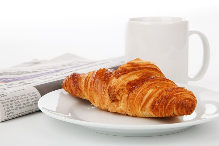 Skip the heavy breakfast. How about tea and a pastry?
