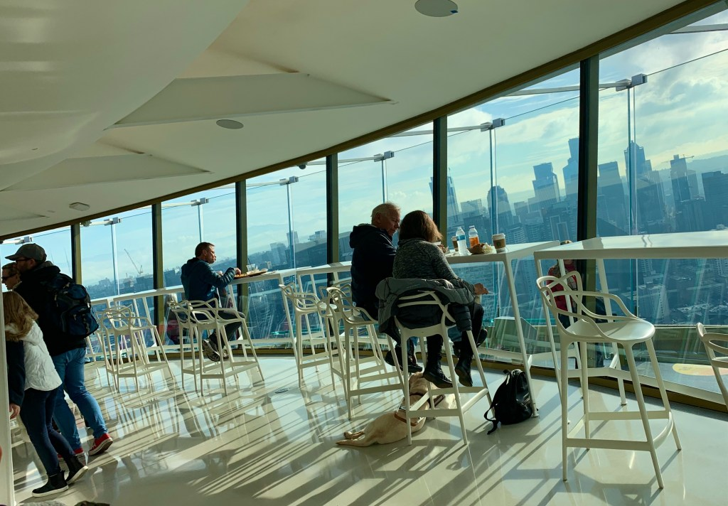 A cafe with the best view of Seattle! (Photo by Suzanne Ball)