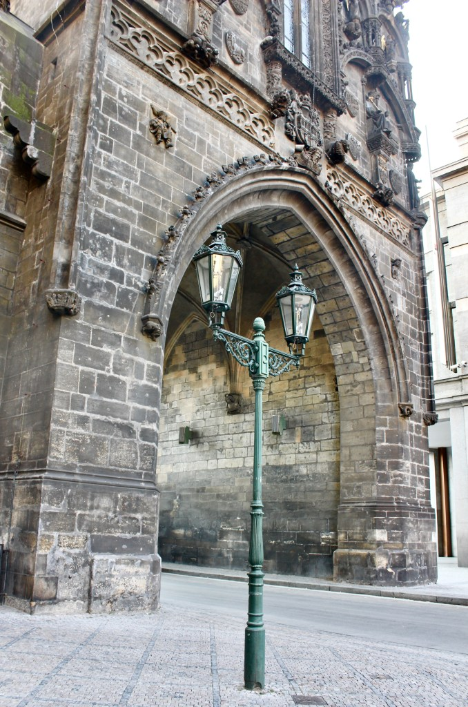 One of the reasons to visit Prague--history is everywhere! Powder Gate, from 1475.