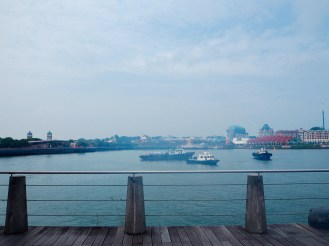 Looking over to Sentosa Island