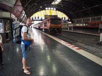 Arriving at Bangkok train station at Hua Lampong