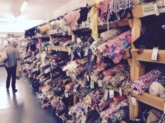 Hitting Abakan's fabric shop with my Mum