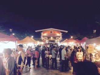 The bustling market