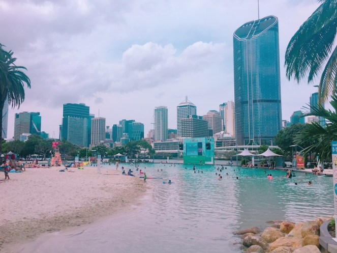 The awesome South Beach - a man made beach in the city!