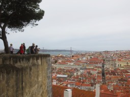 Looking out over Lisbon