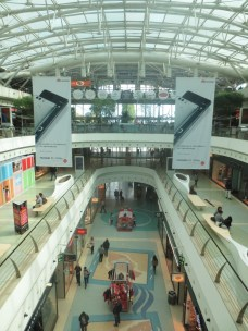 Small part of the shopping complex