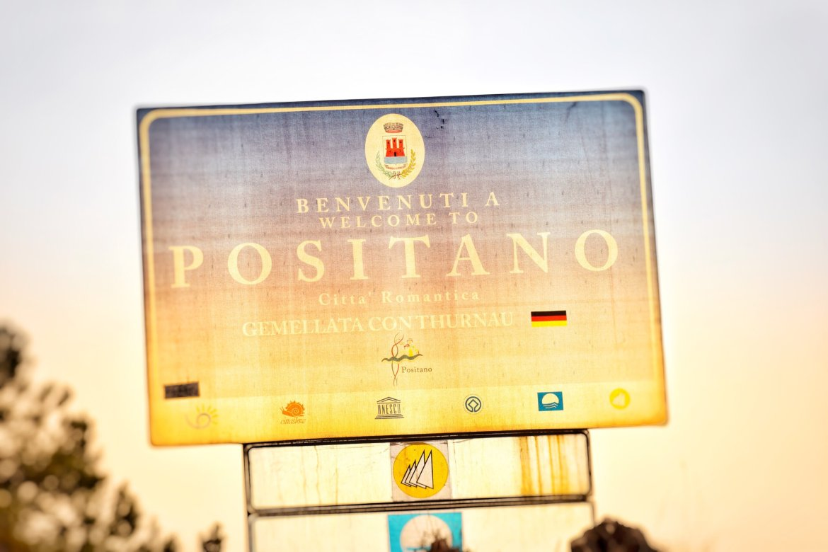 Welcome to Positano sign
