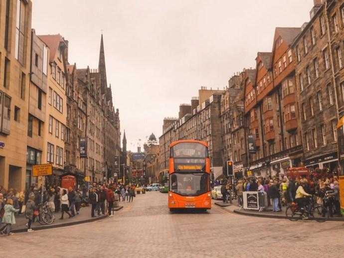 The Royal Mile a street in Edinburgh