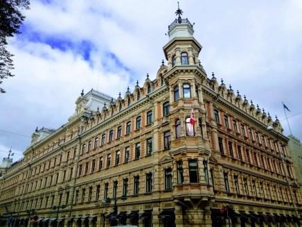 A beautiful corner building in Helsinki.