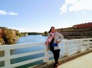 Sarah on bridge in Suomenlinna
