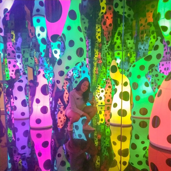 Sarah Fay in Love is Calling Infinity Room at the Tampa Museum of Art.