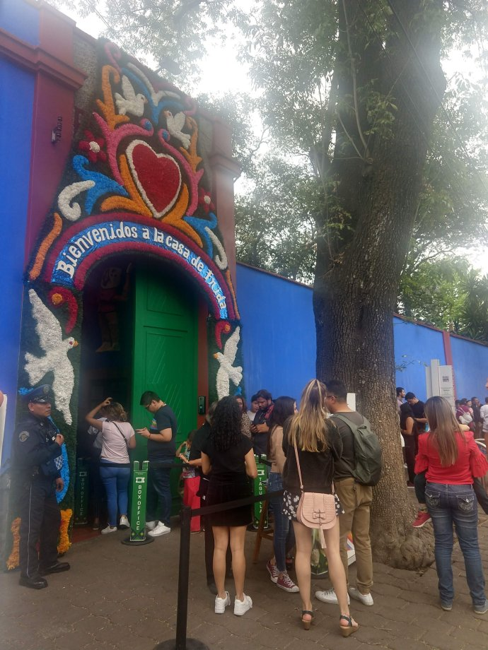 Entrance to Frida Kahlo's Museum in Mexico City