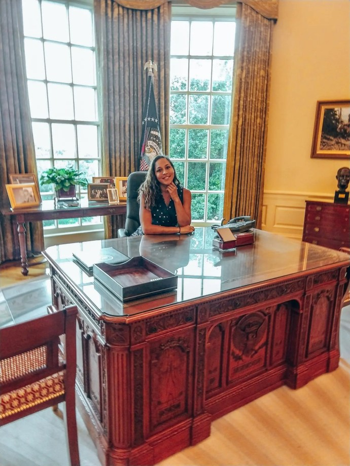 Replica office of President George W. Bush at the Library and Museum in Dallas Texas.