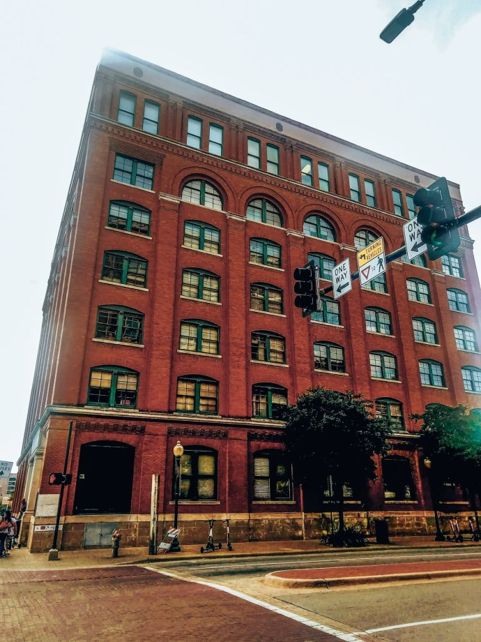 Sixth Floor Museum off of Dealey Plaza in Dallas Texas.