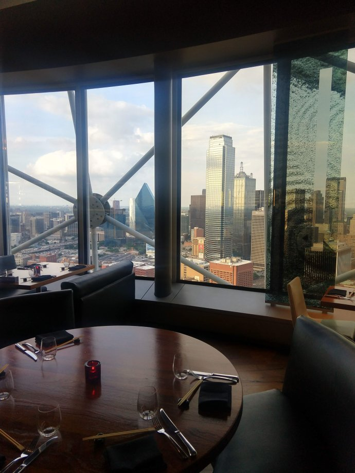 Wolfgang restaurant at Reunion Tower in Dallas Texas