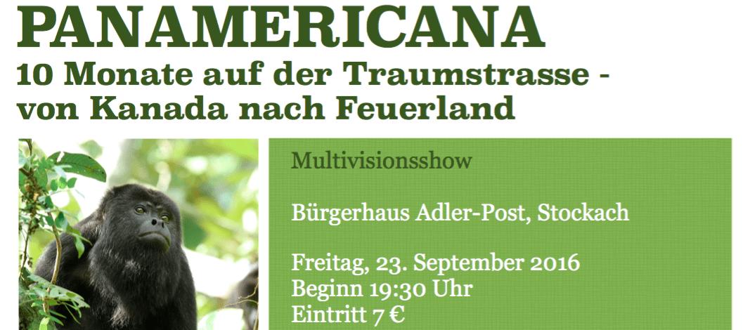 Multivisionsshow am Freitag, 23.09.2016 in Stockach