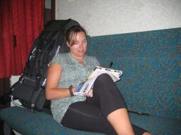 Overnight train in Hungary