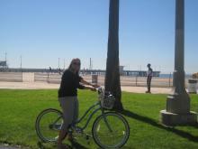 094 Bike riding along the coast
