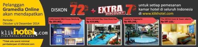 Promo Hotel Gramedia Member di klikhotel.com