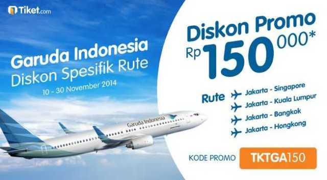 promo garuda indonesia diskon Rp 150.000 ke spesifik rute