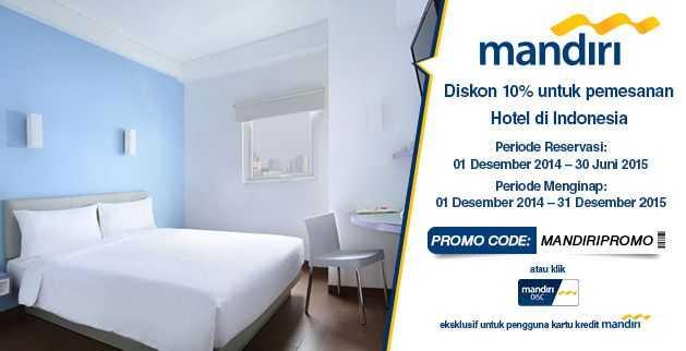promo hotel ticktab diskon 10% dengan menggunakan kartu kredit Mandiri