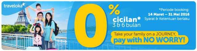 Cicilan 0% BNI Traveloka tiket pesawat dan hotel