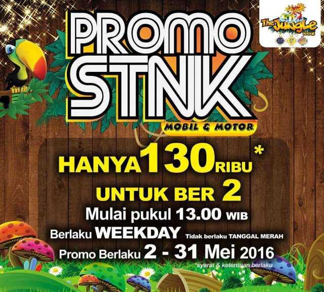 Promo STNK Jungle Waterpark harga spesial berdua hanya RP 130.000