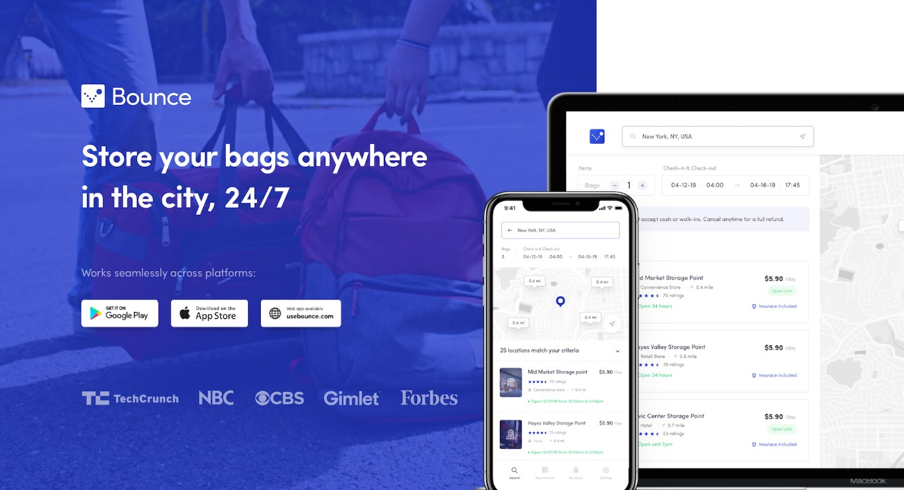 Bounce: The New Storage App for your Bags